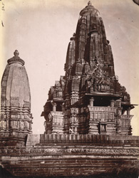 Rear view of the Chaturbhuja Temple, Khajuraho